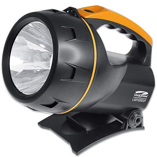 Litexpress LX0103DSP handschijnwerper, Cree krachtige led met lichtopbrengst tot 450 lumen, oranje, kunststof, zwart, 20 x 14,8 x 18,8 cm