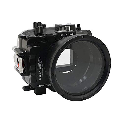 60M/195FT Waterproof housing RX1xx Series Salted Line (Black) for Sony RX100 VII, RX100 VI, RX100 V, RX100 IV, RX100 III