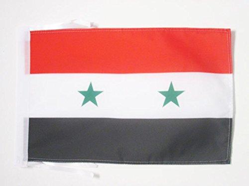 AZ FLAG Flagge SYRIEN 45x30cm mit Kordel - SYRISCHE Fahne 30 x 45 cm - flaggen Top Qualität