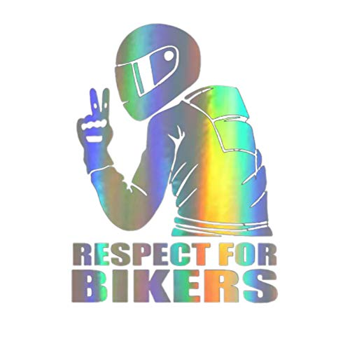Yunobi Auto-Aufkleber Respekt für Radfahrer, reflektierender Aufkleber, Auto-Aufkleber, modische Auto-Dekoration, Aufkleber für Auto, Karosserie, Fenster