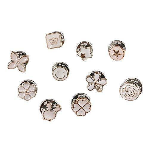 Glomixs Exposure Buttons, 10Pcs Prevent Accidental Exposure Buttons Brooch Pins Badge