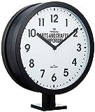 インターフォルム(INTERFORM INC.) 掛け時計 Robeston - ロベストン - ブラック CL-2138 W44×H38×D13cm
