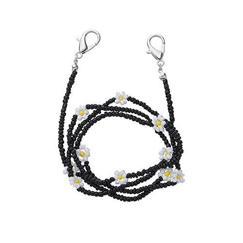 Moda para mujer con cuentas coloridas flor de margarita Gafas de sol Cadena Cordón Gafas Cadena Máscara Joyería, 4