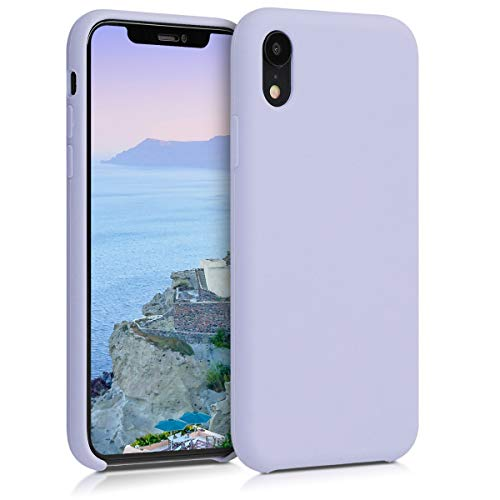 kwmobile Hülle kompatibel mit Apple iPhone XR - Handyhülle gummiert - Handy Hülle in Pastell Lavendel