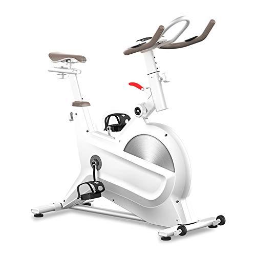 YDYGIntérieur Vélo Elliptique Cross Trainer Monitor 6-Fonction, capteurs de fréquence Cardiaque, événements vidéo Siège réglable et App Multiplayer,Blanc