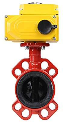 """Butterfly Valve Wafer PN16, Body/disc - cast Iron, seat - EPDM (250°F / 120°C) with Electric Actuator 110V ON/Off (3"""" (DN80)) from Vega Controls LLC"""