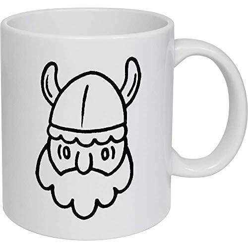 Azeeda 320ml 'Cabeza Vikingo' Taza de Ceramica (MG00011091)