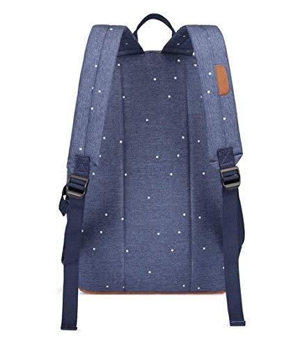 41BkbwuFMRL - HFY Mujer Mochila Impermeable, Mochila para portátil Multiusos Daypacks 15.6 Pulgadas, para Negocio,Viaje,Escuela,Hombre Mujer Trabajo Diario (Azul)