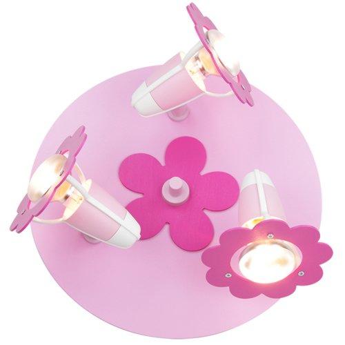 Elobra Kinderzimmerlampe Blume Blüte, Holz, rosa, 123720