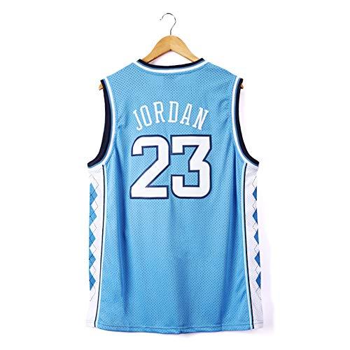 WXFO Jordan Basketball Jersey 23#, North Carolina Basketball Fans Apparel, Unisex Sleeveless Embroidered Sports Shirts,Moisture-Absorbing Sweat-Wicking Lightweight. (S-XXL)-M
