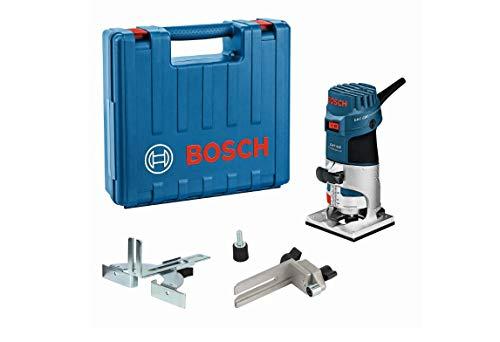 Bosch Professional Kantenfräse GKF 600 (inkl. Maulschlüssel, Parallelanschlag, Führungshilfe, Spannzangen 6+8 mm, im Handwerkerkoffer)