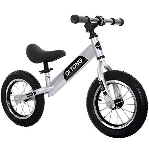 LXMJ Kinder Balance Fahrrad,Rahmen Aus Hohem Kohlenstoffstahl,leicht Ohne Pedale,Verstellbarer Sattel,für Kinder Von 3 Bis 6 Jahren