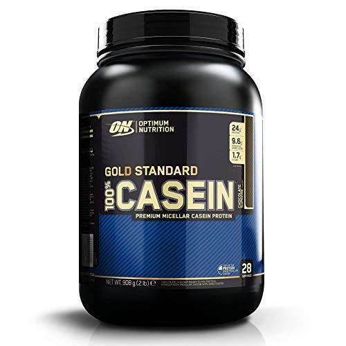Optimum Nutrition ON 100% Gold Standard Casein, Protéine de Caséine en Poudre pour Musculation et Prise de Masse, Saveur Chocolat Suprême, 28 Portions, 0,9 kg