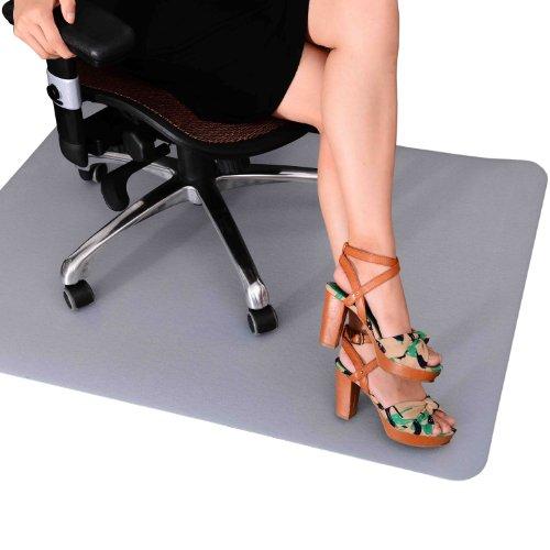 Outsunny - Protezione per Pavimenti Tappeto salvapavimento Base per sedie da Ufficio per Pavimenti Trasparente 90x120 cm