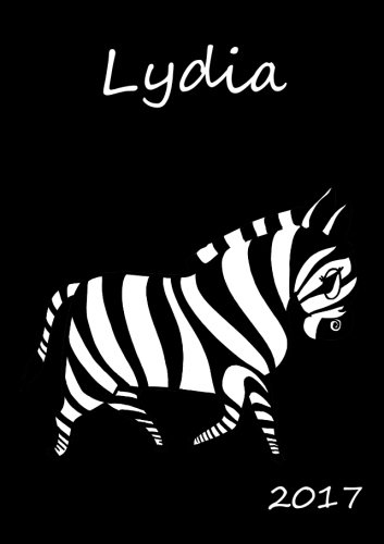 """2017: personalisierter Kalender 2017 \""""Lydia\"""" - DIN A5 - eine Woche pro Doppelseite"""