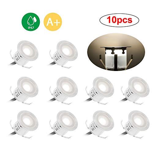 Docooler 10PCS 6W Faretto LED Segnapasso Impermeabile 32 Millimetri 500LM SMD2835 Tatuaggi Passo da Patio Pathway Scale