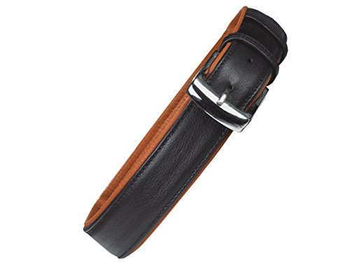 "Nobby 78372-97 leren halsband""CHARA"" L: 45 cm, B: 18 mm, zwart-beige"
