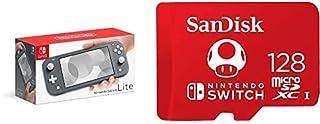 Nintendo Switch Lite - Gray with SanDisk 128GB MicroSDXC UHS-I Card for Nintendo Switch