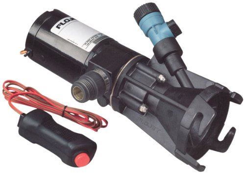 Flojet 18555-000A Portable RV Waste Pump with Garden Hose Discharge Port - 12 VDC Motor