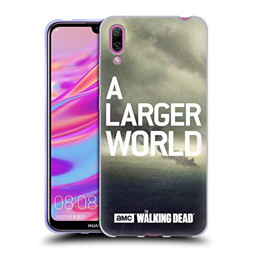 Officiële AMC The Walking Dead Rook Sleutelkunst Soft Gel Case Compatibel voor Huawei Enjoy 9 (2018)