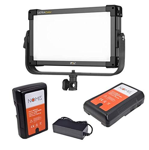 F&V Z200S Soft Bi-Color LED Panel - 901 Lux, 3200-5600K Set with 2 Batteries, Charger and Light Stand