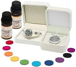 Aromatherapy Jewellery Set | Diffuser Necklace Pendant and Bracelet 4 Piece Set | Ideal Gift for Women | Essential Oil Diffuser Jewellery for Women and Teens | Includes bonus Lavender & Geranium Oil