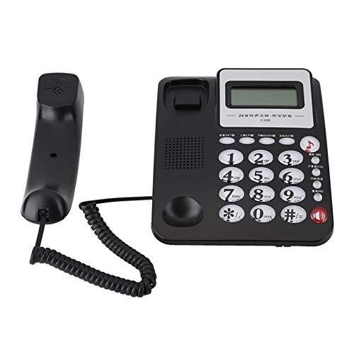 Duurzame huistelefoon Multifunctionele wekkerfunctie Calculatorfunctie Kantoortelefoon, voor op kantoor, voor thuis, voor bedrijven(black)