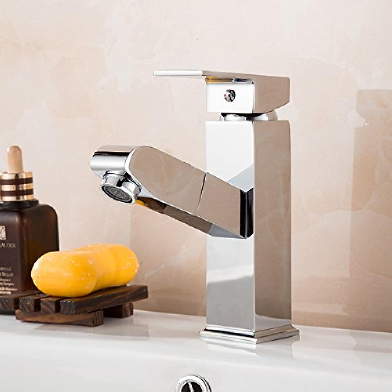 Heie und kalte Spülbeckenhahn-Küchenhahn der modernenModerne einfache kupferne heie und kalte Küchenspülenhhne Küchenhahn Ziehen Sie den Beckenhahn an Geeignet für alle Badezimmerküchenspülen