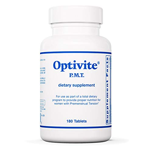 Optimox Optivite PMT - Multivitamin and Multimineral for Women with Premenstrual Syndrome (PMS) - 180 Tablets