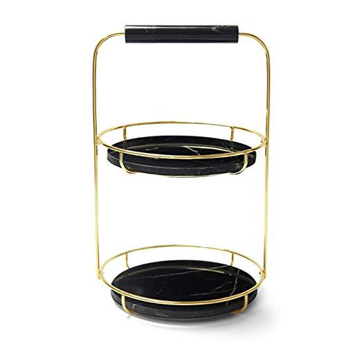 yuanyuanliu Caja De La Rotación De Cosméticos De Almacenamiento, Bastidores De Baño Tocador, Productos De Aseo Bastidores Perfumes Cuidado De La Piel, (Color : Black, Size : Medium)