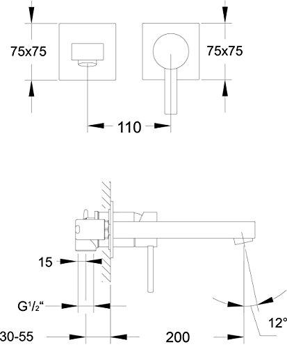 Steinberg 2 Loch Waschtisch Einhebelmischbatterie 215.1800 - 4