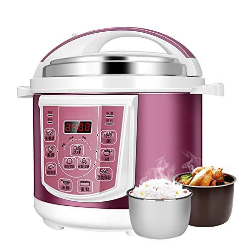 Elektrische snelkookpan, 5L huishouden rijstkoker stoofpot, 8 menu's, slowcooker, rijstkoker, stoomkoker, wok, yoghurt maker en isolatie, keukenapparatuur