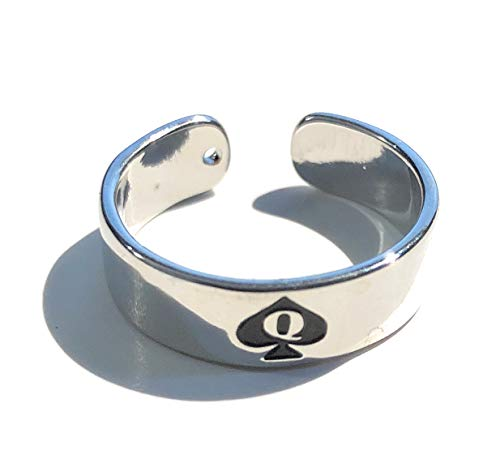 Alternative Intentions Silver Toe Ring Slut, Whore, BBC, Hotwife or Queen of Spades, Swinger Jewelry Lifestyle (Queen of Spades Charm)