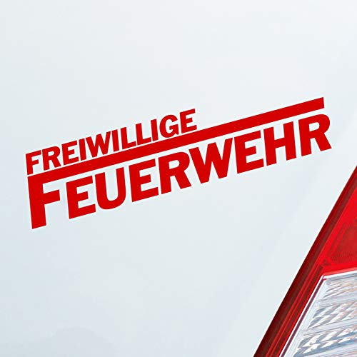 Auto Aufkleber in deiner Wunschfarbe Freiwillige Feuerwehr langes F Leben 19,5x4,5cm Autoaufkleber Sticker Folie