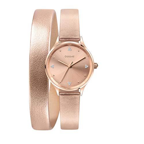 Oui & Me Reloj Analógico para Mujer de Cuarzo con Correa en Cuero ME010242