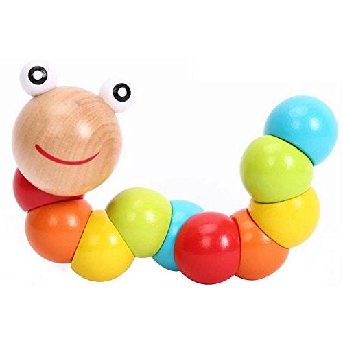 Demarkt Baby Holz Raupen Spielzeug Holzspielzeug Lernspielzeug