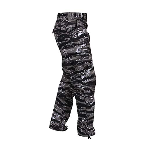 Rothco Camo Tactical BDU (Battle Dress Uniform) Military Cargo Pants, Urban Tiger Stripe Camo, M