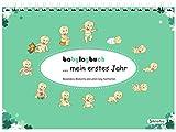 babylogbuch - mein erstes Jahr - mint green - inkl. Aufkleberset - Baby-Kalender/Baby-Tagebuch -...