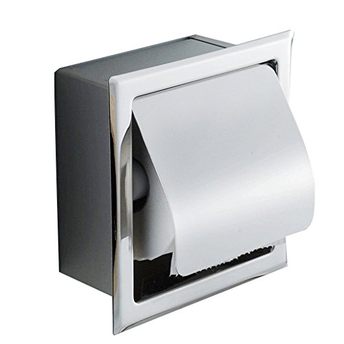Top 10 best selling list for polished nickel recessed toilet paper holder with cover