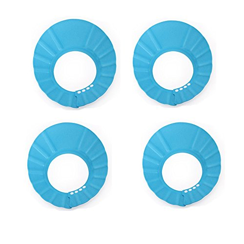 Miracle4ever 4 pièces Shampooing/Cheveux Ensemble de bouchon de lavage pour Kid/bébé (4 Pcs-blue)