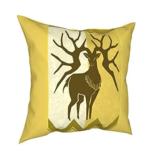 Fire Emblem 3 Houses Golden Deer Banner Tapiz Funda de Almohada Moda Cuadrada Funda de Almohada Decoración Throw Pillow Cover 18 X 18 Pulgadas 45 X 45 cm