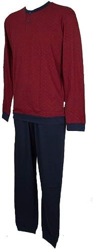 RAGNO Pyjama Homme Manches Longues en Coton Seraphim Article N25741