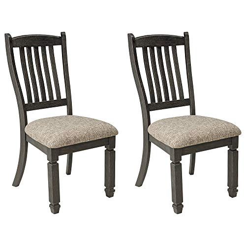 Signature Design by Ashley Tyler Creek Dining Room Upholstered Chair Set of 2, Antique Black