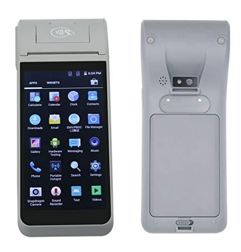 HiDON Téléphone portable Android 9.0 PDA avec imprimante thermique POS 5,5 pouces, NFC et appareils photo peuvent lire le code barres 1D / 2D