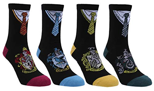 4x Schwarze Socken HARRY POTTER 3-6 Jahre