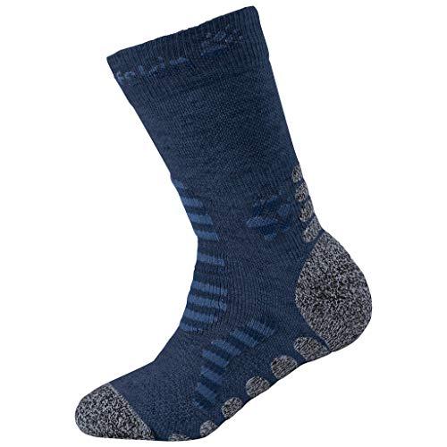 Jack Wolfskin Kinder Hiking Stripe Classic Cut Socken, Dark Indigo, 34-36