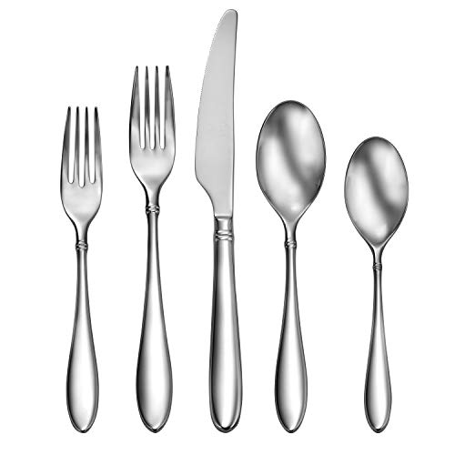 CraftKitchen Stainless Steel Flatware Sets (45 Pieces, Arlo), Service for 8