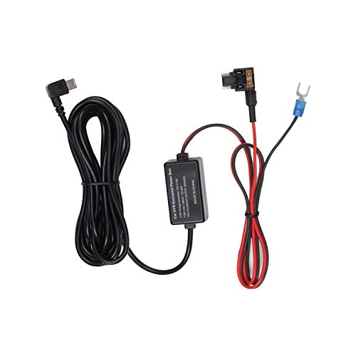 auto-vox Dash Cam Garmin kit Low Profile mini Fuse adattatore caricatore auto cable12.74ft compatibile con X1/X2/A1/M6/navigatore GPS radar detector e tutti i dispositivi con porta mini USB