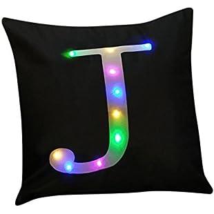 Hunpta Christmas Lighting LED Cushion Cover Home Decor Throw Pillowcase Sofa Flashing (J)