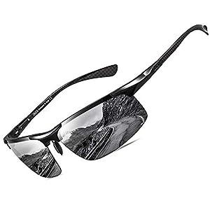 DUCO Men's Sports Polarized Driving Carbon Fiber Sunglasses for Men UV400 Protection DC8277
